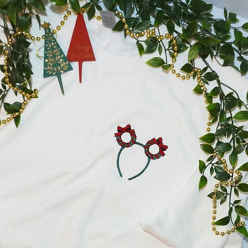 Christmas -  Wreath Ears T.Shirt