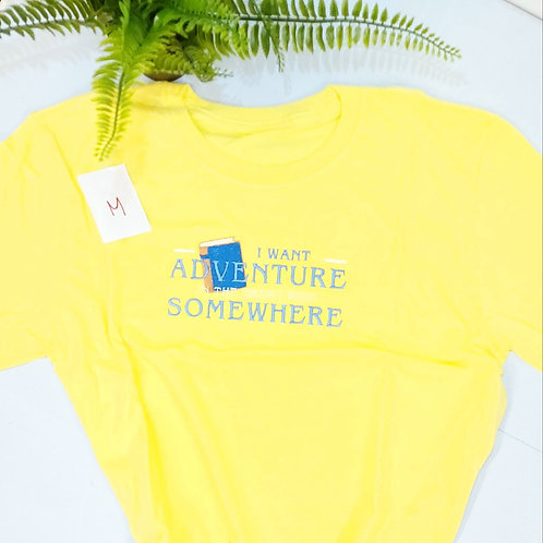 Sample sale - I Want Adventure, Light Yellow T.shirt M size