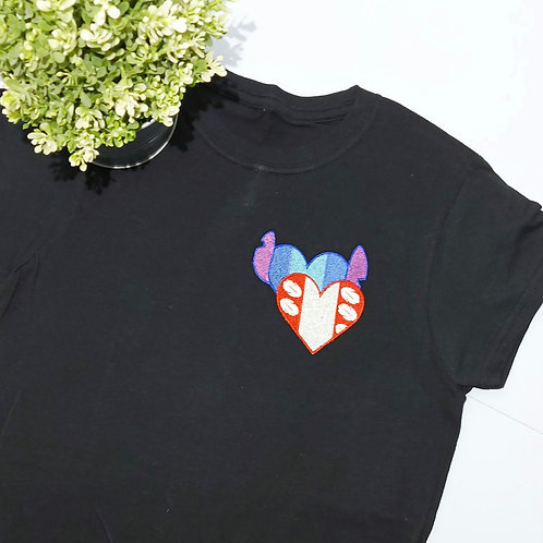 Womens Small Fitted -  Black T.shirt