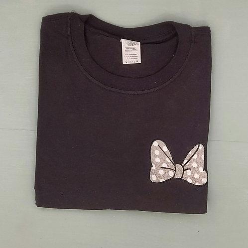 Sample Sale - Minnie Bow Black L Tee