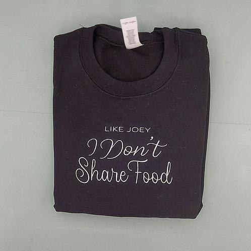 Sample Sale - Don't Share Food Black S Jumper