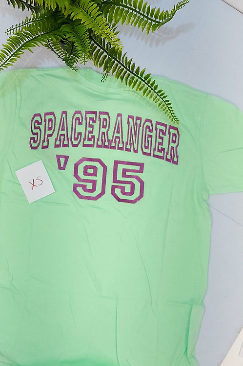 Sample sale - Space Ranger Double Sided, Mint Green T.shirt XS size