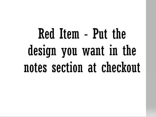 Red Jumper - Leave Name Design In Note