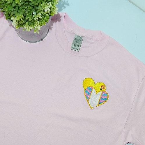 Not Perfect - Duo Chip & Belle Medium Size Light Pink T.shirt