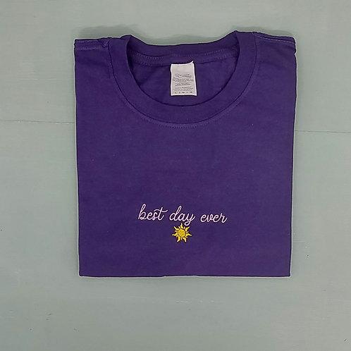 Sample Sale - Best Day Ever Purple L Tee