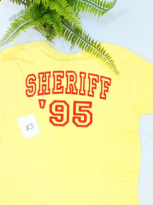 Sample sale - Sheriff Double Sided, Light Yellow T.shirt XS size