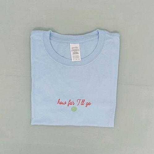 Sample Sale - Far I'll Go Light Blue L Tee