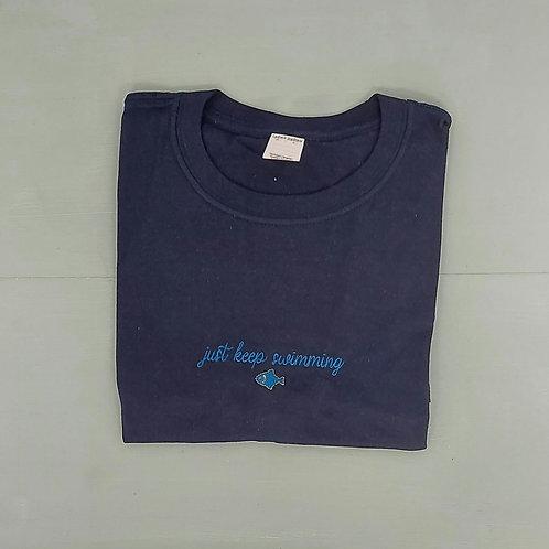 Sample Sale - Keep Swimming Navy M Tee