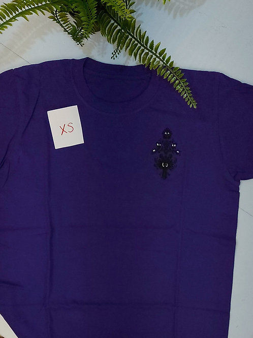 Sample sale - Haunted Eyes, Purple T.shirt XS size