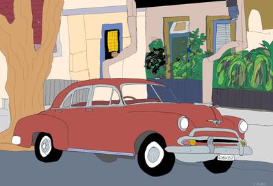 Red1951 Chevrolet Styleline Sedan
