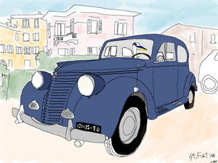 Blue '49 Fiat 1500