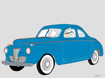Quirky in 38 Blue Ford