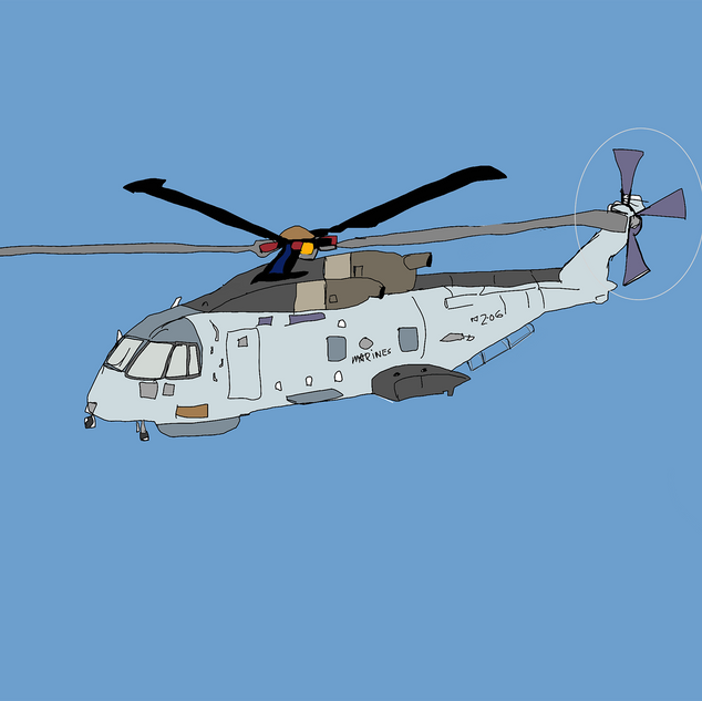 Gray Marine Copter