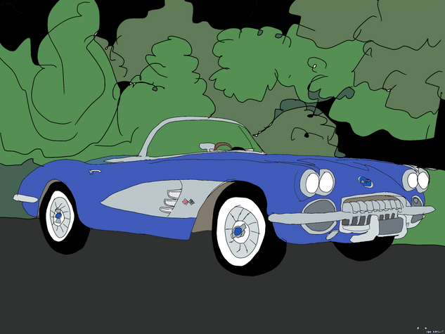 58 CorvetteRoyal Blue