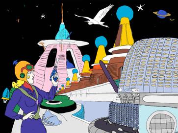 Spacegirl with Quirky