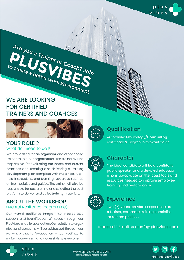Plusvibes Trainers Poster