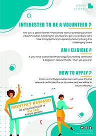 Plusvibes Volunteers Poster