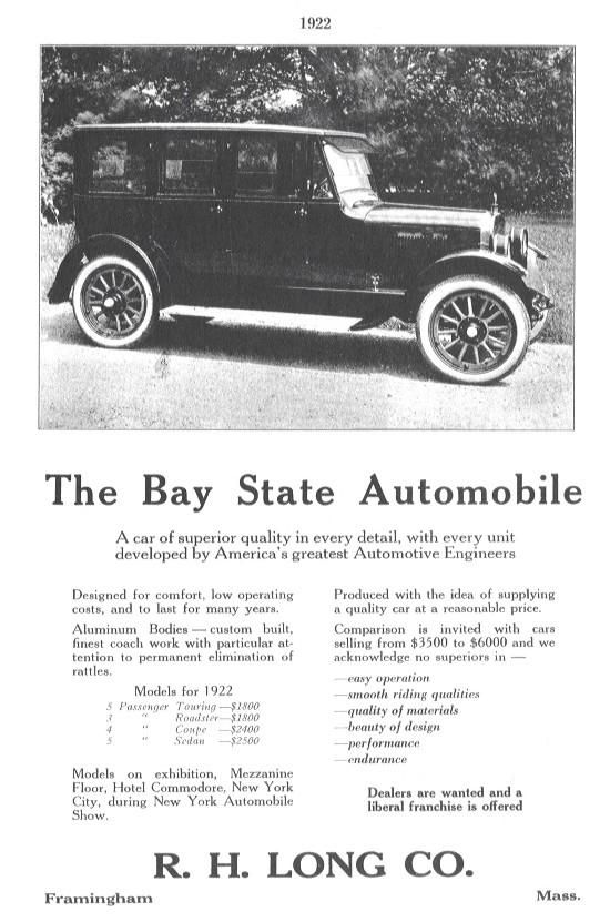 Bay State ad sheet c.1922