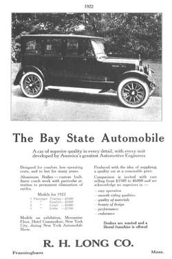 Bay State ad sheet c.1922
