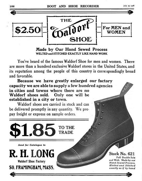 The Waldorf Shoe Ad