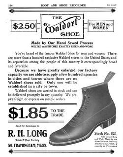 The Waldorf Shoe Ad