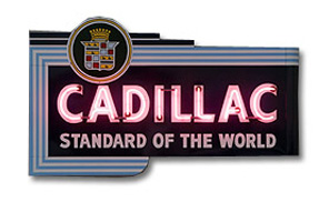 Cadillac store sign