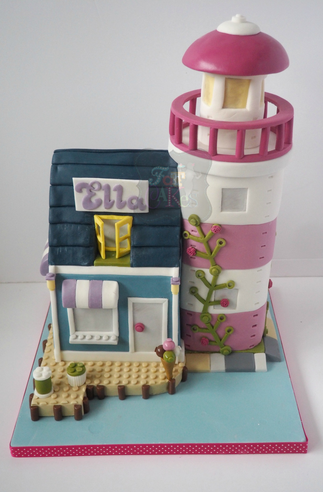 Remarkable Lego Friends Lighthouse Birthday Cake Personalised Birthday Cards Paralily Jamesorg