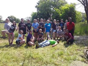 Firestone Volunteers With Chatham Village
