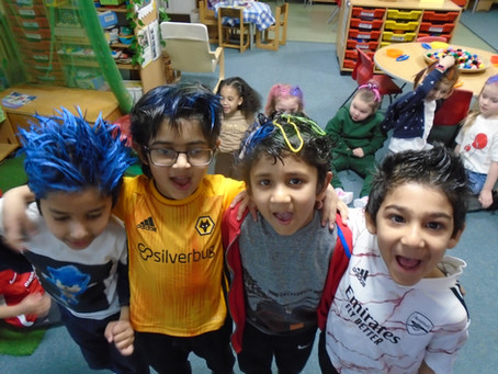 Comic Relief 2021 Funny Hair Day