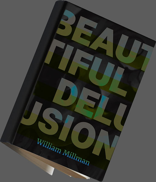 Book cover mock-up typography