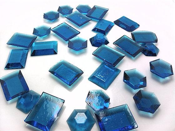 250 EDIBLE BLUE SUGAR JEWELS