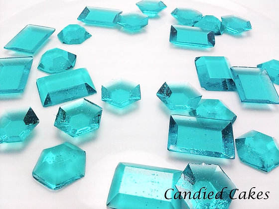 250 EDIBLE TURQUOISE SUGAR JEWELS