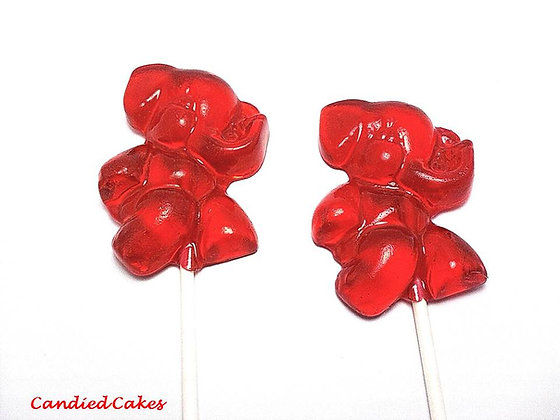 12 ELEPHANT LOLLIPOPS