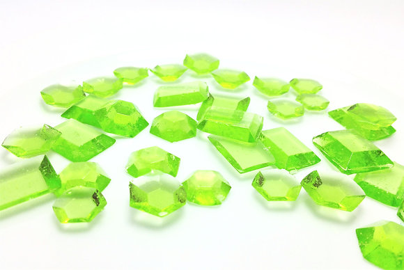 250 EDIBLE MINT GREEN SUGAR JEWELS