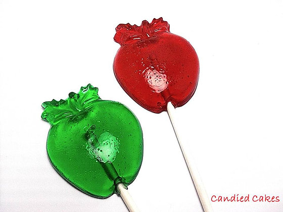 12 LARGE APPLE LOLLIPOPS