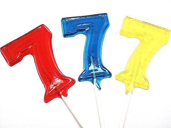 12 LARGE NUMBER SEVEN LOLLIPOPS