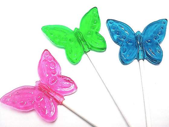 100 BUTTERFLY LOLLIPOPS - BULK