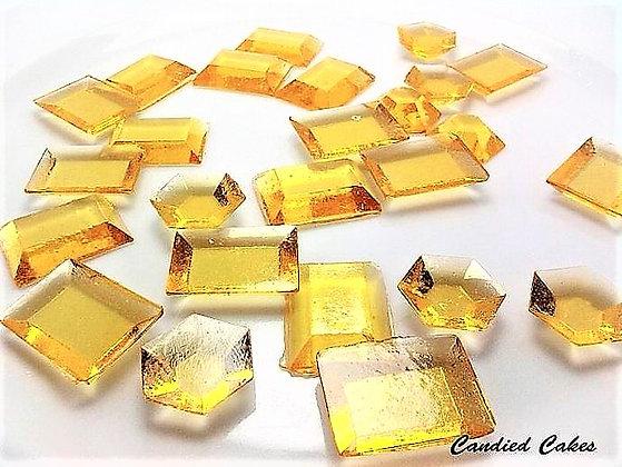 250 EDIBLE GOLD SUGAR JEWELS