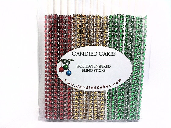 16 - HOLIDAY GOLD MIX OF BLING STICKS