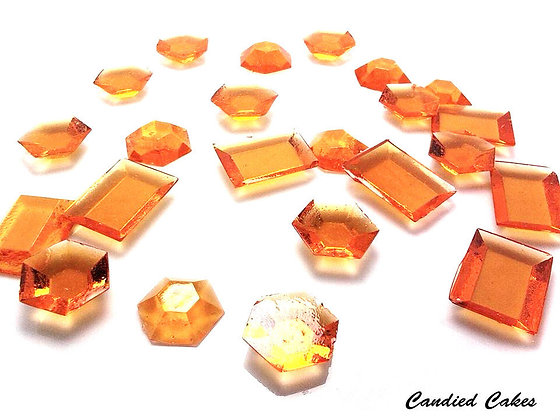 250 EDIBLE ORANGE SUGAR JEWELS