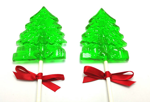 12 HOLIDAY TREE LOLLIPOPS