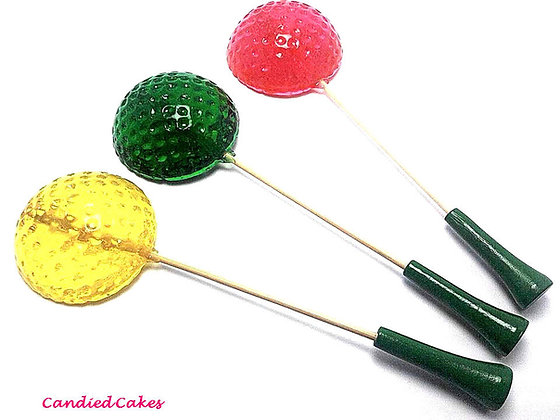 100 GOLF BALL LOLLIPOPS - BULK