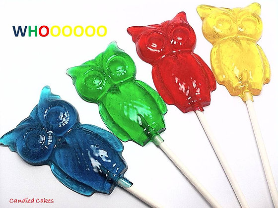 10 OWL LOLLIPOPS