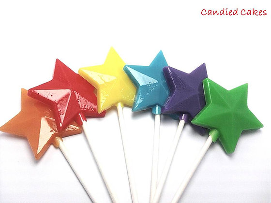12 OPAQUE(SOLID)STAR WANDS