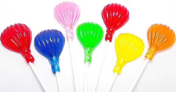 12 HOT AIR BALLOON LOLLIPOPS