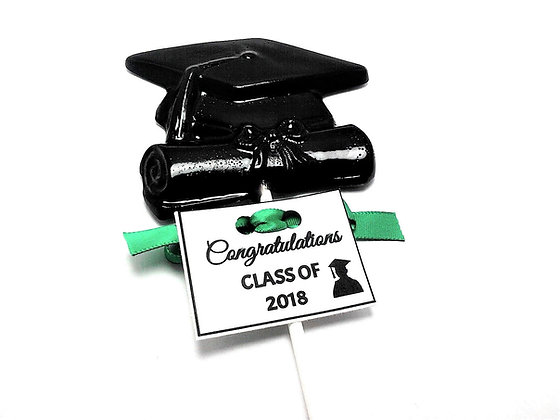12 XLARGE GRADUATION LOLLIPOPS with PERSONALIZED TAGS