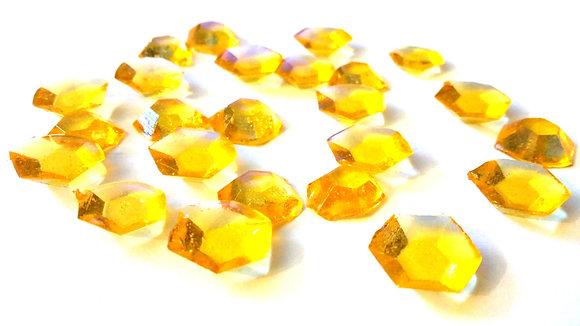 150 DIAMOND SHAPED SUGAR GEMS- SELECT COLOR