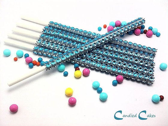 16 - LIGHT BLUE BLING STICKS