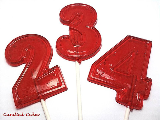 12 LARGE NUMBER TWO LOLLIPOPS