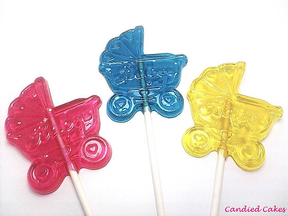 12 BABY CARRIAGE LOLLIPOPS